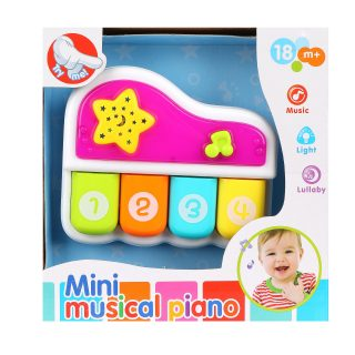 Детское пианино 4 клавиши, свет, бат.в компл.не вх., кор.