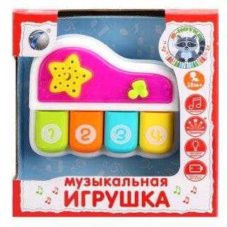Музыкальная игрушка Пианино Е-Нотка, свет, мелодии, звуки жив., батар. не вх.в компл., в ассорт., кор.