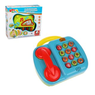 Орган эл. 2в1 Пинанино+Телефон, свет, звук, эл.пит. AA*3 шт.не вх.в компл., кор.