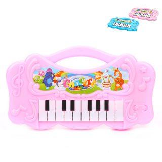 Пианино детское 16 клавиш, свет, звук, в ассорт., бат.AA*3 шт. в компл.не вх., пакет