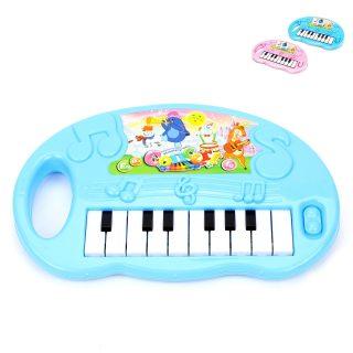Пианино детское 16 клавиш, свет, звук, в ассорт., бат.AA*3 шт.в компл.не вх., кор.