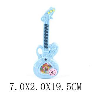 Гитара пласт. 19 см э/ф, батар.AG13*3шт. в комлп.не вх., в ассорт., пакет