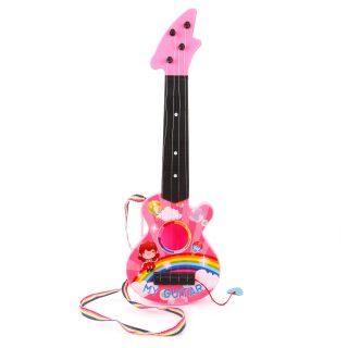 Гитара пластм.46 см, 4 струны, в ассорт, пакет
