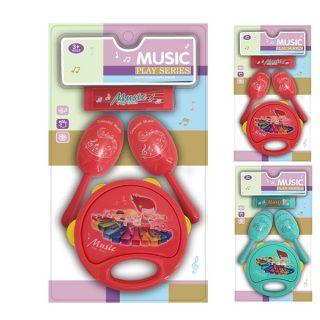 Набор музыкальных инструментов, 4 предмета, в асс., блистер