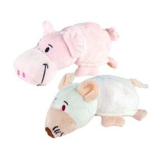 Мягкая игрушка Вывернушка 2в1, 16 см., символы года, Свинья-Крыса