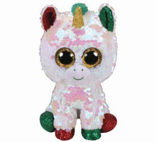 Мягкая игрушка Стардаст рождественский единорог с пайетками 15 см.