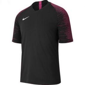 Детская игровая футболка с коротким рукавом Nike Strike чёрная с розовым