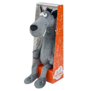 Мягкая Игрушка Волчок - Серый Бочок, 22 см