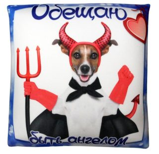 Антистрессовая подушка Собака Обещание в асс-те