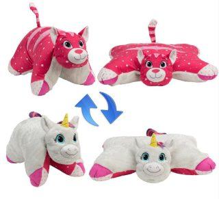 Мягкая игрушка Подушка Вывернушка 2в1Единорог-Кошечка
