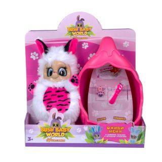 Интерактивная мягкая игрушка Тигренок Тилли, плюш, 20 см, шевелит ушками, вращает глазками, со спальным коконом, заколкой и шармом , размер кор. 20*23*9 см