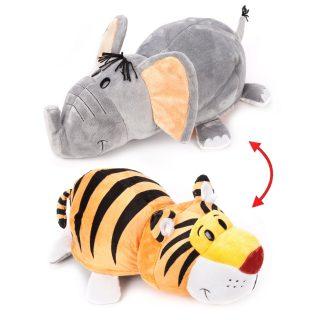 Мягкая игрушка Вывернушка 40 см 2в1 Тигр-Слон