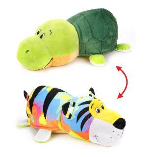 Мягкая игрушка Вывернушка 40 см 2в1 Тигр-Черепаха