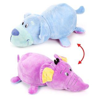 Мягкая игрушка Вывернушка 40 см 2в1 Щенок-Слон