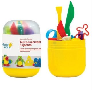 Набор для детского творчества Тесто-пластилин 6 цветов