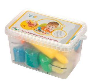 Набор для детской лепки Тесто-пластилин 12 цветов