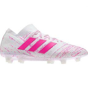 Футбольные бутсы adidas Nemeziz 18.1 FG белые с розовым