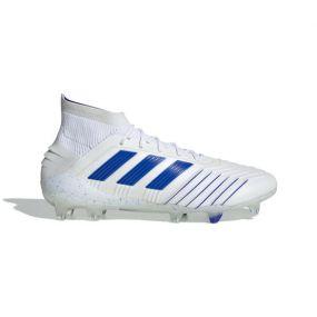 Футбольные бутсы adidas Predator 19.1 FG белые с синим