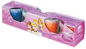 Тесто для лепки. Пластишка. Принцессы  Disney, 4 цв., 115 гр.