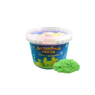 Набор Волшебный песок Зеленый 0,5 и формочка