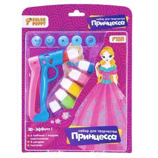 """Набор для творчества """"Принцесса"""" с жидким пластилином, 6 цветов, пистолет"""