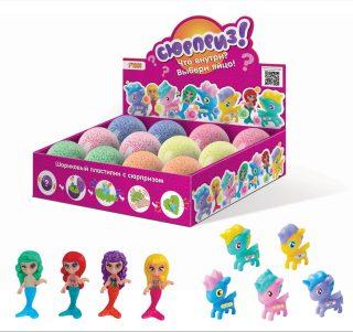 Шариковый пластилин для девочек с сюрпризом (игрушка внутри)