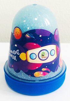 """Слайм Плюх """"Космос"""" Светящийся с блестками, Синий 130 г"""