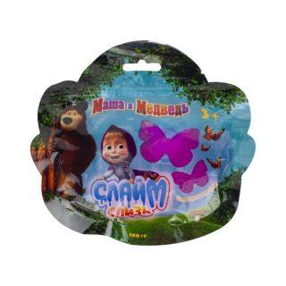 Слизь Маша и Медведь в пакете с европодвесом 100 гр
