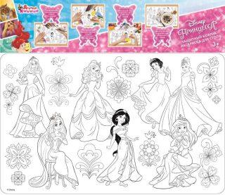 Коврик-раскраска защитный для стола Принцесса Дисней