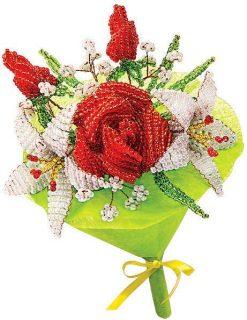 Набор для тв-ва Букет из бисера Розы и Лилии