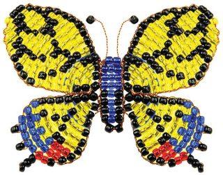 Набор для тв-ва Фигурка из бисера Бабочка-махаон