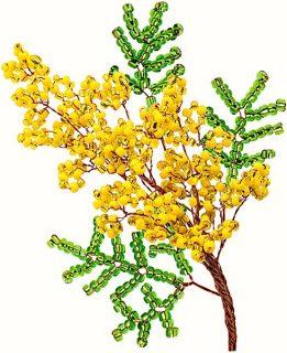 Набор для тв-ва Цветы из бисера Мимоза