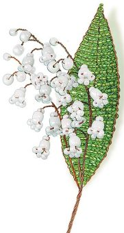 Набор для тв-ва Цветы из бисера Нежный ландыш