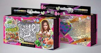 Набор креативного тв-ва My Color Clutch клатч-пенал Love -раскраска красками и блестками