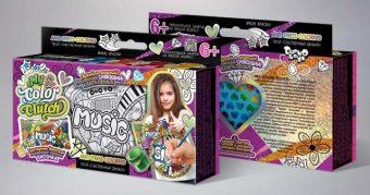 Набор креативного тв-ва My Color Clutch клатч-пенал Music -раскраска красками и блестками