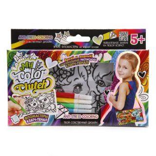Набор креативного тв-ва My Color Clutch клатч-пенал Зайка и Белочка -раскраска фломастерами