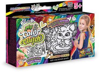Набор креативного тв-ва My Color Clutch клатч-пенал Кошечка и Собачка -раскраска фломастерами
