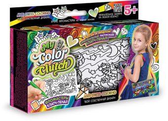 Набор креативного тв-ва My Color Clutch клатч-пенал Совы -раскраска фломастерами