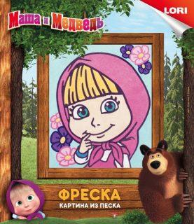 Фреска  Маша и Медведь Маша