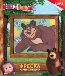 Фреска  Маша и Медведь Медведь