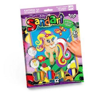 Фреска из песка Sand Art Пони