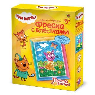 Фреска с блестками Карамелька Лето Три кота