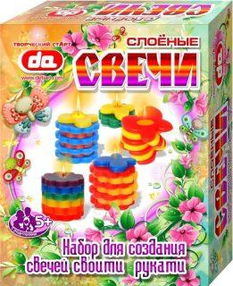 Набор Слоёные свечи Бабочки-цветочки