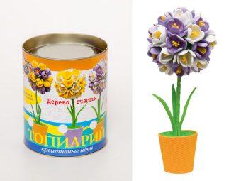 Набор для тв-ва топиарий малый Крокусы (фиолетовый/белый)
