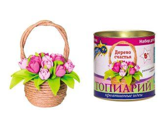 Набор для тв-ва Тюльпаны в корзинке