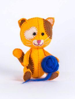Набор для изготовления текст. игрушки Котёнок Рыжик