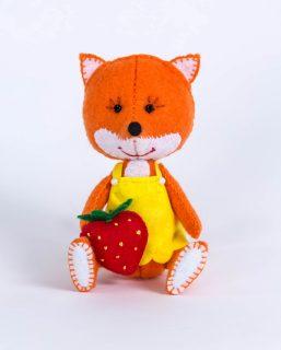 Набор для изготовления текст. игрушки Лисичка