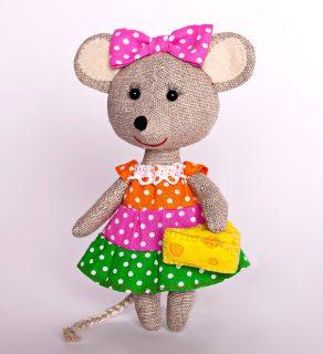 Набор для изготовления текст. игрушки Мышка-Норушка
