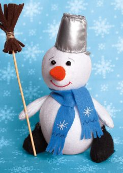 Набор для изготовления текст. игрушки Снеговик