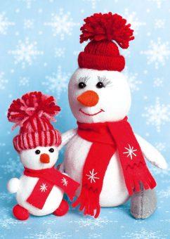 Набор для изготовления текст. игрушки СнегоМама + СнегоДочка